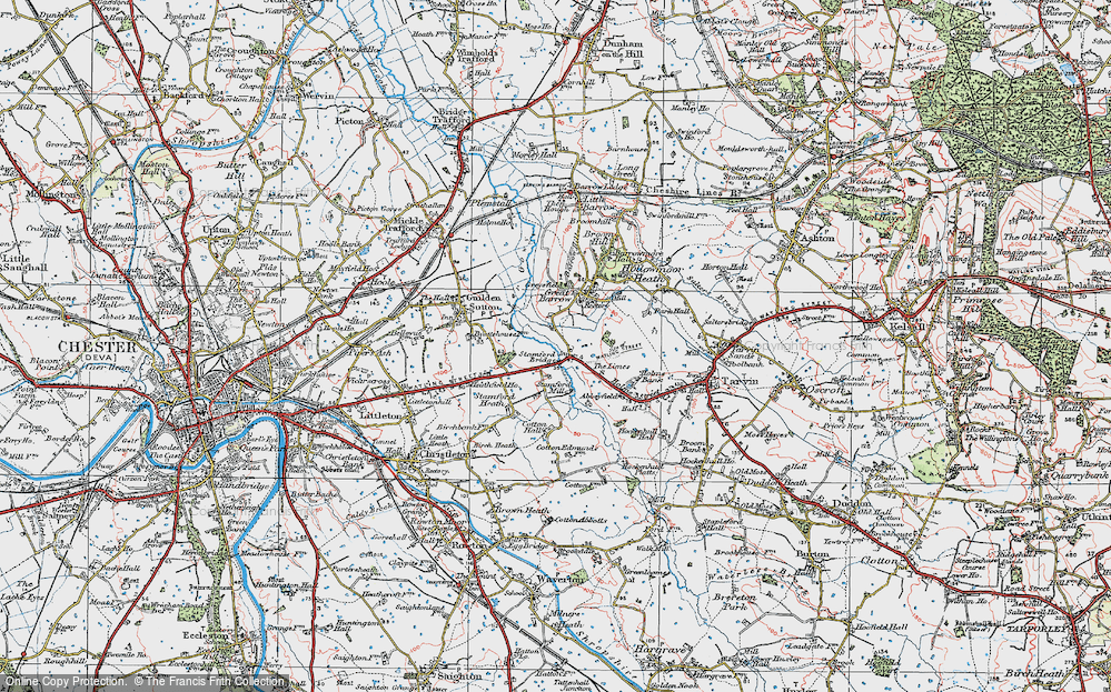 Old Map of Historic Map covering Limes, The in 1924