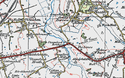 Old map of Limes, The in 1924