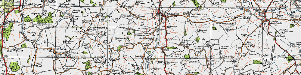 Old map of Stanbrook in 1919