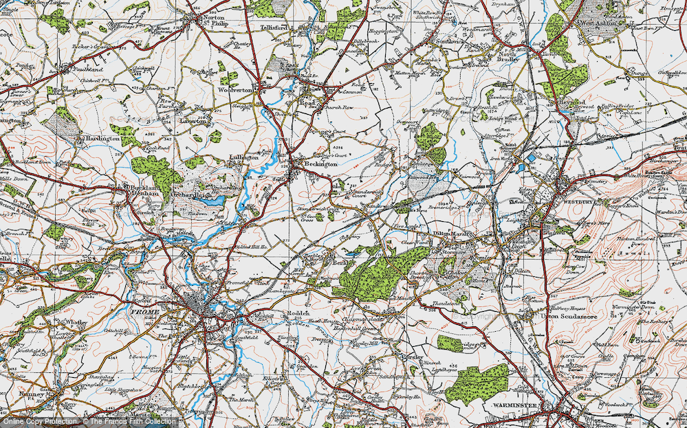 Old Map of Standerwick, 1919 in 1919