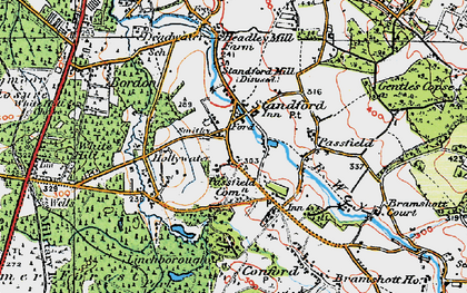 Old map of Linchborough Park in 1919