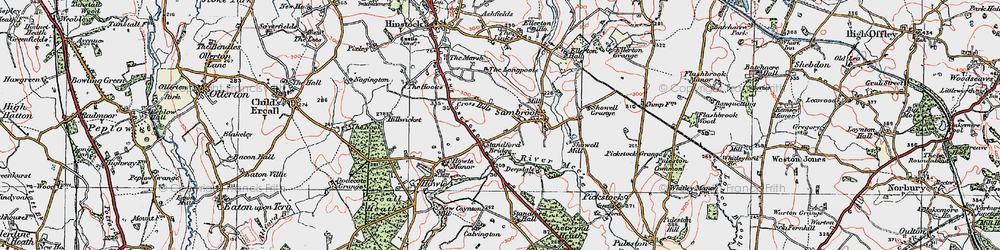Old map of Standford Bridge in 1921