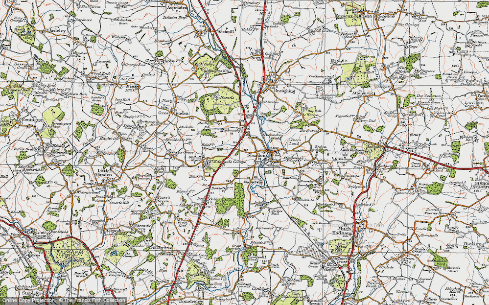 Old Map of Standon, 1919 in 1919