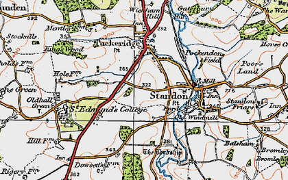 Old map of Standon in 1919