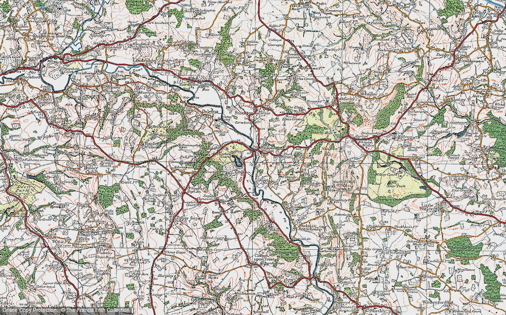 Old Map of Stanford Bridge, 1920 in 1920