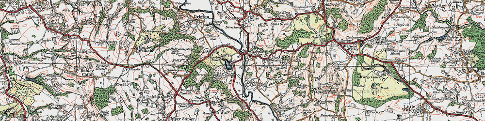 Old map of Stanford Bridge in 1920