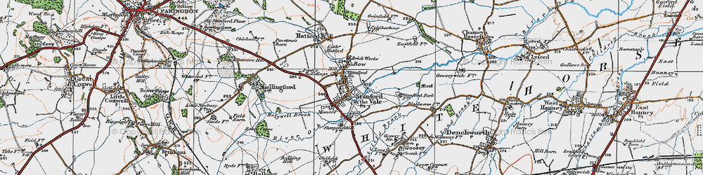 Old map of Stanford in the Vale in 1919