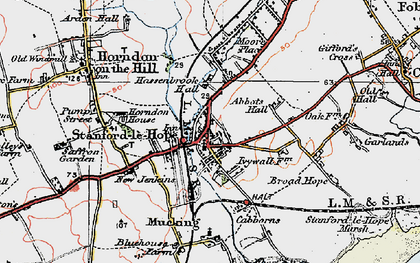 Old map of Stanford-le-Hope in 1920