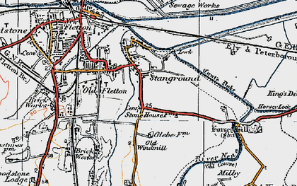 Old map of Stanground in 1922