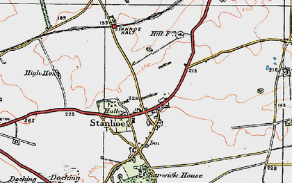 Old map of Stanhoe in 1921