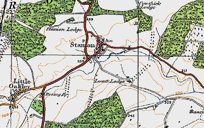 Old map of Stanion in 1920
