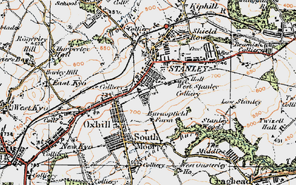 Old map of Stanley in 1925