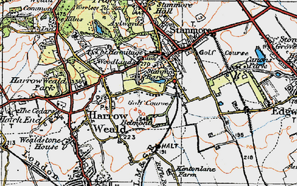 Old map of Stanmore in 1920