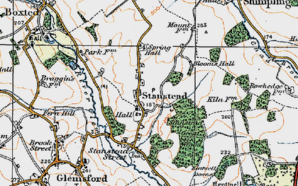Old map of Stanstead in 1921