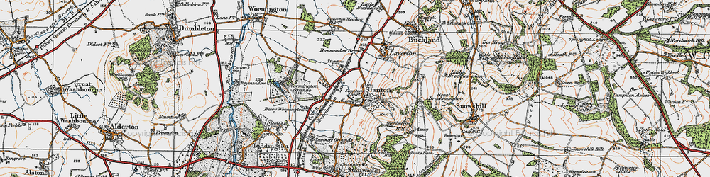 Old map of Stanton in 1919