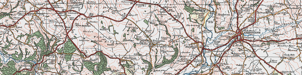 Old map of Limestone Hill in 1921