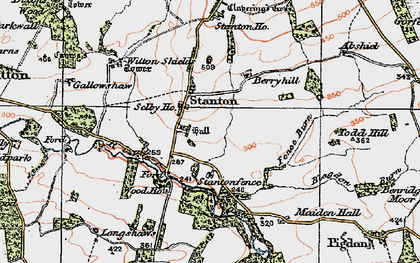 Old map of Stanton in 1925