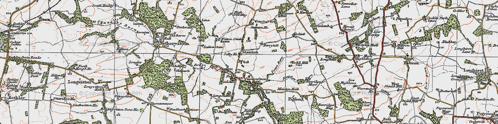 Old map of Witton Shields in 1925