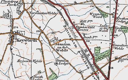 Old map of Wynnstay Wood in 1921