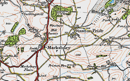 Old map of Winsbury Hill in 1919