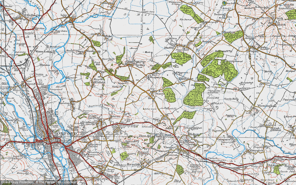 Old Map of Historic Map covering Ashen Copse in 1919