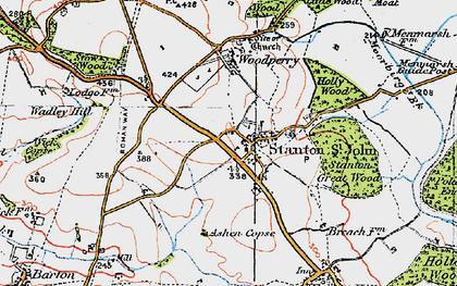 Old map of Ashen Copse in 1919