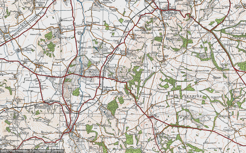 Old Map of Historic Map covering Lidcombe Wood in 1919