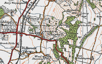 Old map of Lidcombe Wood in 1919