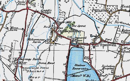 Old map of King George VI Reservoir in 1920