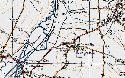 Old map of Stanwick in 1919