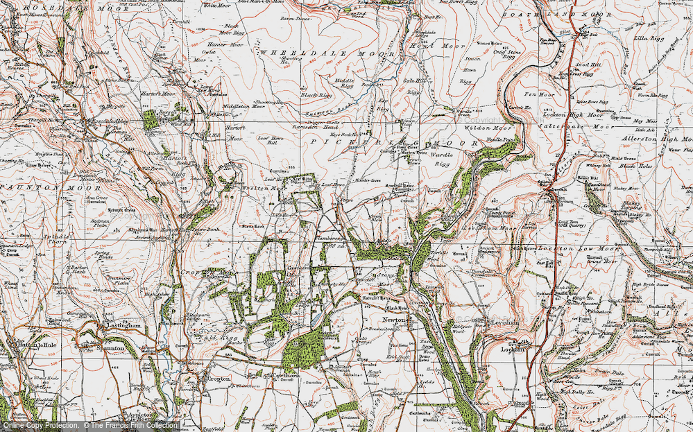 Old Map of Stape, 1925 in 1925
