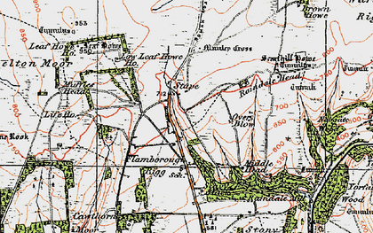 Old map of Leaf Howe Hill in 1925