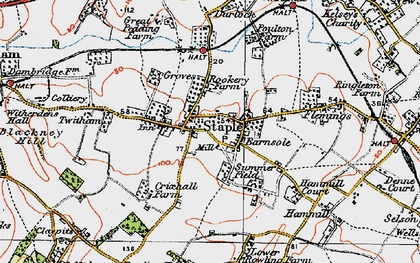 Old map of Staple in 1920