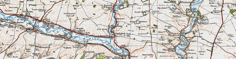 Old map of Stapleford in 1919