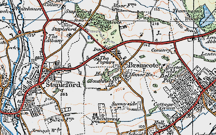 Old map of Stapleford in 1921