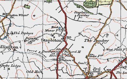 Old map of Abraham's Br in 1921