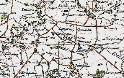 Old map of White Close in 1925