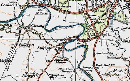 Old map of Stapleton in 1925