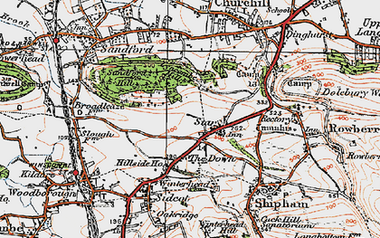 Old map of Wimblestone in 1919