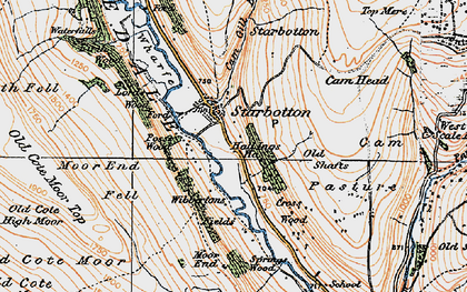 Old map of West Scale Park in 1925