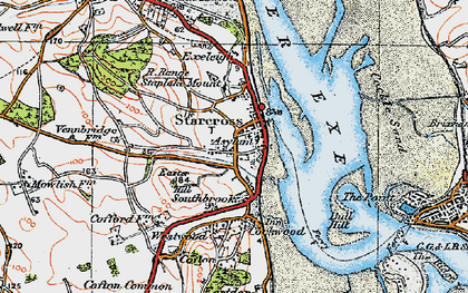 Old map of Starcross in 1919