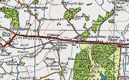 Old map of Start Hill in 1919