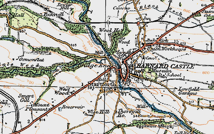 Old map of Startforth in 1925