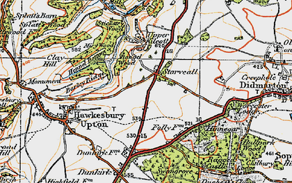 Old map of Bangel Wood in 1919