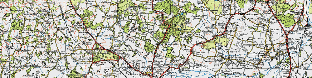 Old map of Yews, The in 1920