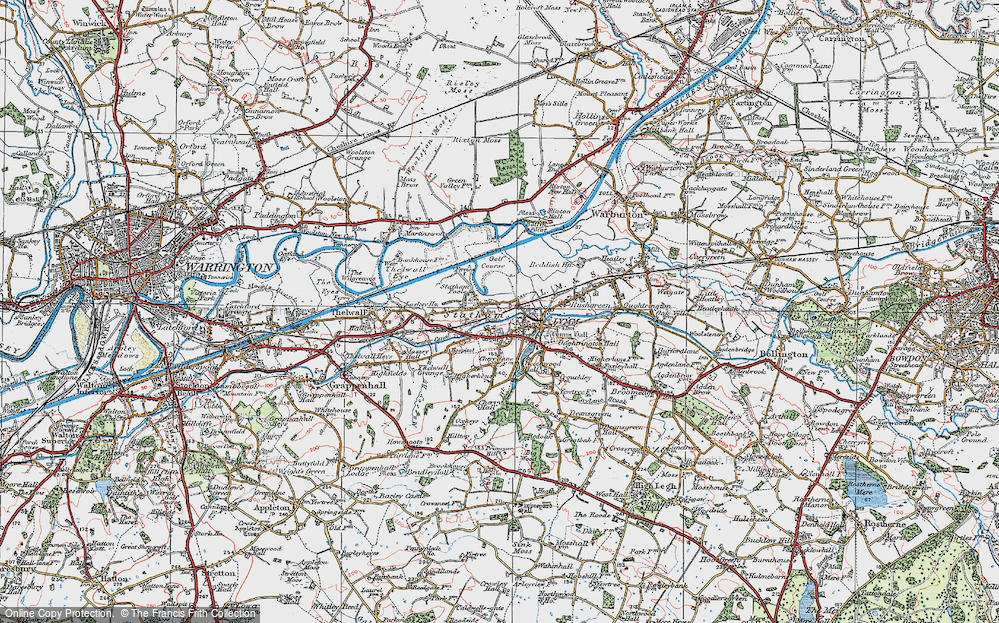 Old Map of Statham, 1923 in 1923