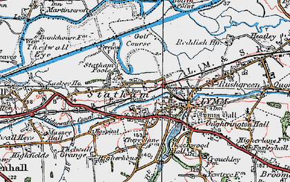 Old map of Statham in 1923