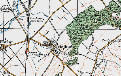 Old map of Barkestone Wood in 1921