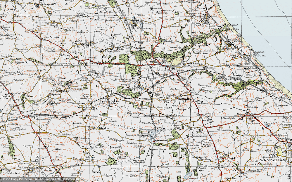 Old Map of Historic Map covering Woodlands Close in 1925