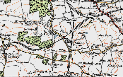 Old map of Woodlands Close in 1925